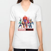 big hero 6 V-neck T-shirts featuring Big Hero 6 by ezmaya