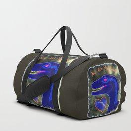 You Are My Blue Dinosaur Duffle Bag