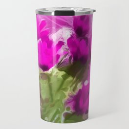 African Daisies With Wall Purple Watercolor Travel Mug