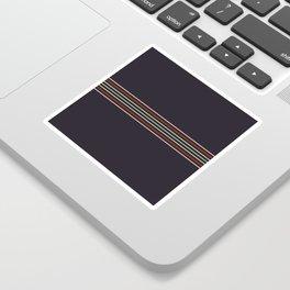 Multicolor Fine Lines Sticker