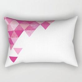 Geo Triangles   hot pink fuchsia Rectangular Pillow