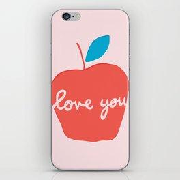 Apple Love You iPhone Skin