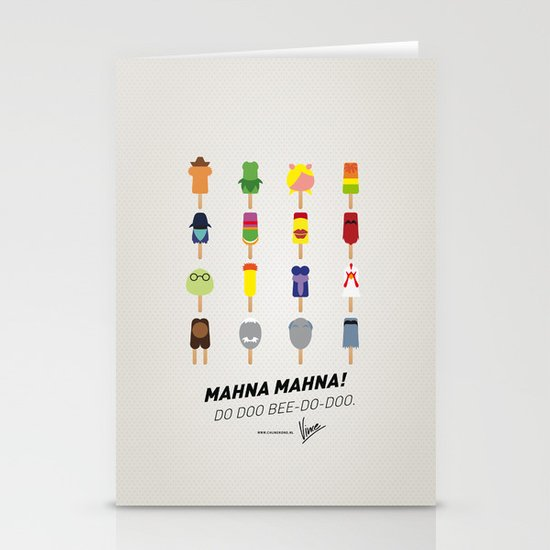 My MINIMAL ICE POPS univers III Stationery Cards