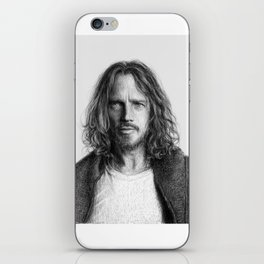 Chris Cornell tribute, black and white iPhone Skin