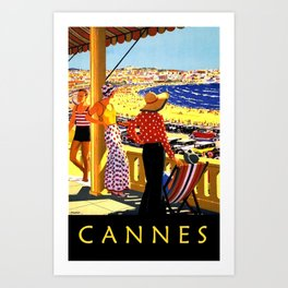 Glorious Days of Cannes Art Print