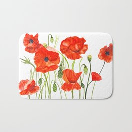Poppies flowers Bath Mat