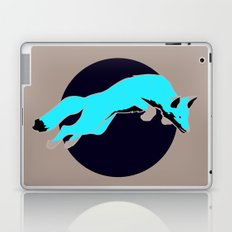 Night Fox Flies over the Moon Laptop & iPad Skin