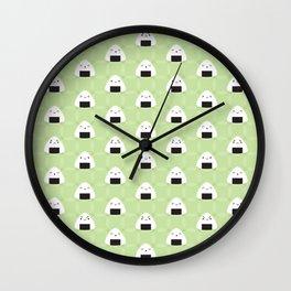 Kawaii Onigiri Rice Balls Wall Clock