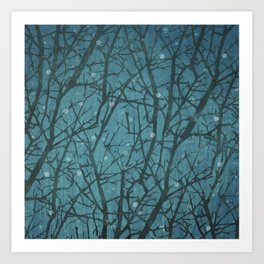 Long Winters Night Art Print