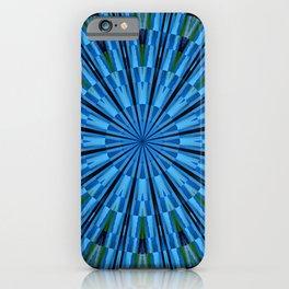 The blue-green mandala iPhone Case