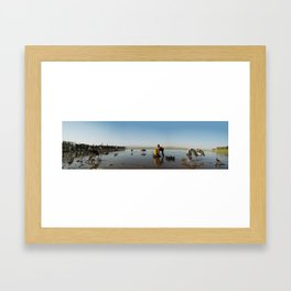 ethiopian fishing boy  Framed Art Print