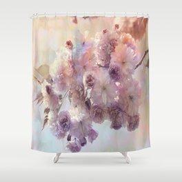 Vintage Beauty, Flower Blossoms Shower Curtain