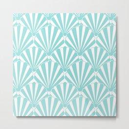 Sea shell Blue Metal Print