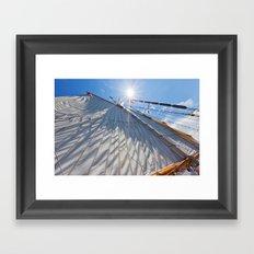 White Sails and Sunshine Framed Art Print