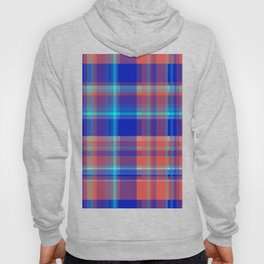 Striped 2X Blue and Red Hoody
