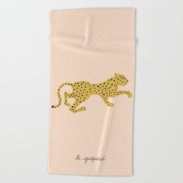 le guépard Beach Towel
