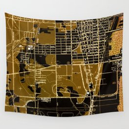 Fort Lauderdale old map year 1949, united states old maps Wall Tapestry