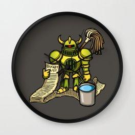 Bucket Knight Wall Clock