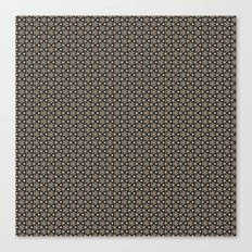 Brown Gold Elegant Pattern Canvas Print