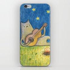 Campfire Cat iPhone & iPod Skin
