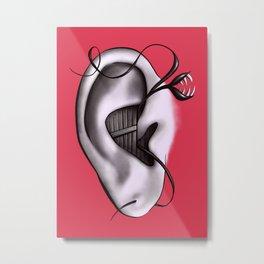 Ear Monster Weird Art Metal Print