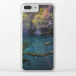 Five Flower Lake Clear iPhone Case