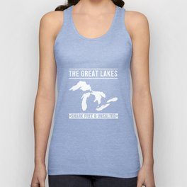 Great Lakes Shark Free and Unsalted T-Shirt Vintage Tee Unisex Tank Top