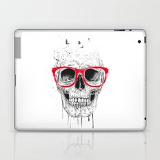 Skull with red glasses Laptop & iPad Skin