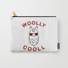 Woolly Cooll Cute Llama Pun Carry-All Pouch