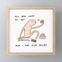 Honest Blob - Eat Nice Things Framed Mini Art Print
