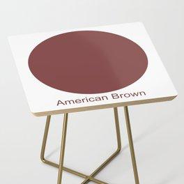 American Brown Side Table