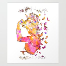 cna not for the weak strong woman power beautiful nurse Art Print