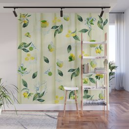 Refreshing Citrus Splash Wall Mural
