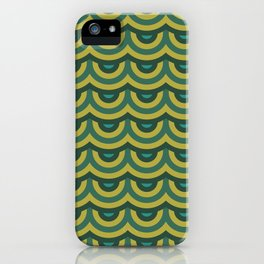Retro Scales - Green Yellow Palette iPhone Case