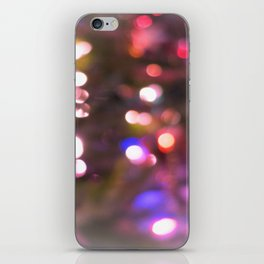 Colored Lights, Bokeh, White, Blue, Pink, iPhone Skin