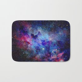 Blue Glitter Galaxy Bath Mat