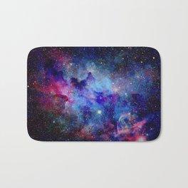 Blue Glitter Galaxy Bath Mat