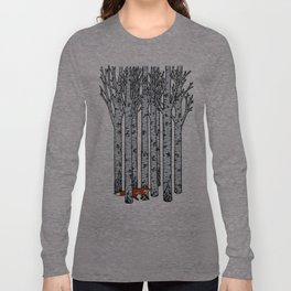 Fox in the Birches Long Sleeve T-shirt
