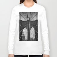 brooklyn bridge Long Sleeve T-shirts featuring Brooklyn Bridge by Photos by Vincent