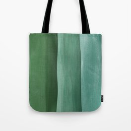 Green Gradient on Wood Tote Bag