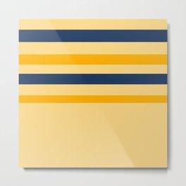 Yellow  blue  stripes  horizontal Metal Print