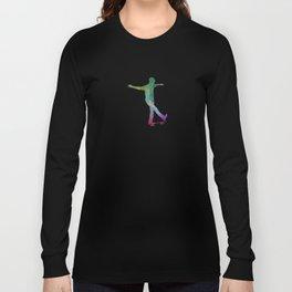 Man skateboard 07 in watercolor Long Sleeve T-shirt