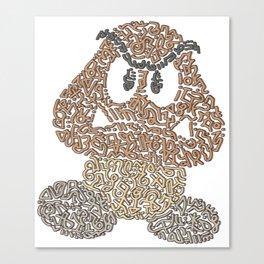 """Goomba"" - Bad Mushroom in Mario Bros Canvas Print"