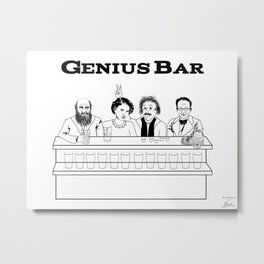Genius Bar Metal Print