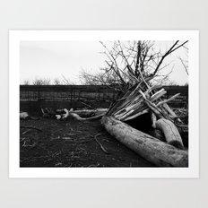 Driftwood Teepee Art Print