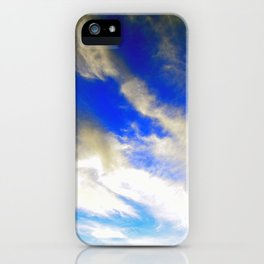 """""""Wispy Clouds #7"""" Photograph iPhone Case"""