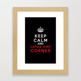 Keep Calm & Lepak One Corner Framed Art Print