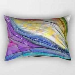 POPCORN ON MARS Abstract Rectangular Pillow