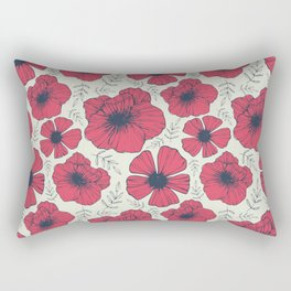 Raspberry Flowers Rectangular Pillow