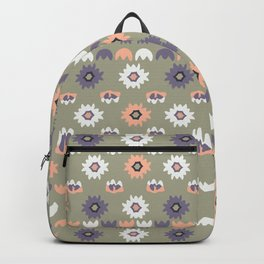 Bohemian Floral Pattern Backpack